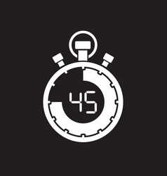 Forty five minute stop watch countdown vector