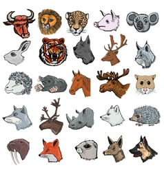 Set of mammals vector