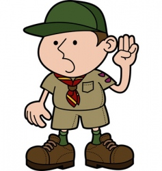 boy scout vector image