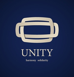 Unity symbol design template vector