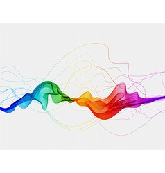 Abstract colorful background with wave vector