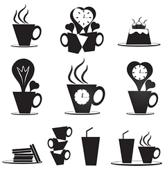 Coffee break icons set vector