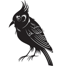 Black bird vector