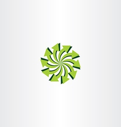Eco light green arrow circle icon vector