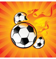 ball in the fire vector image