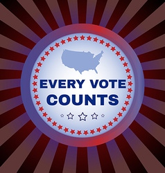 Every vote counts banner vector