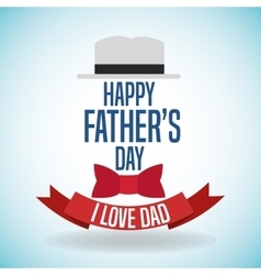 Happy fathers day icon design vector