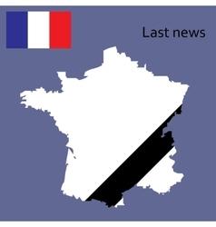 Breaking news france design vector