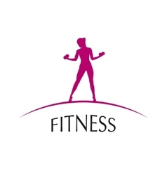 Logo fitness club vector