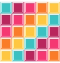 Abstract geometric pattern like a colorful quilt vector image