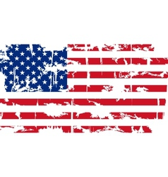 American grunge flag vector image