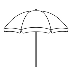 Beach umbrella icon outline style vector image