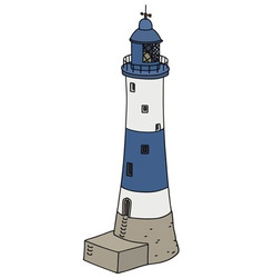 Blue lighthouse vector