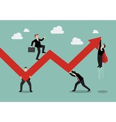 Business Teamwork Maintaining Profits vector image