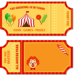 Circus tickets template vector