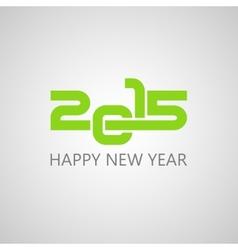 creative happy new year 2015 design vector image
