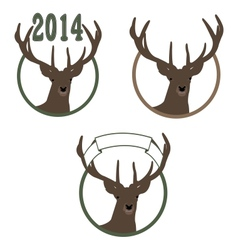 Deer symbol of new year vector