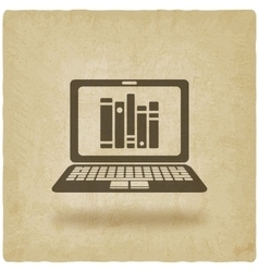 distance online library study or bookstore vector image vector image