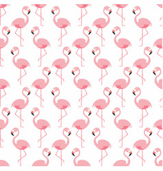 flamingo seamless pattern pink flamingo standing vector image vector image