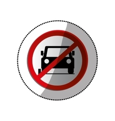 forbidden vehicle roadsign vector image vector image