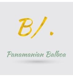 Golden symbol of the panamanian balboa vector