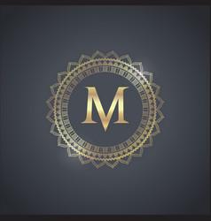 luxury brand design vector image