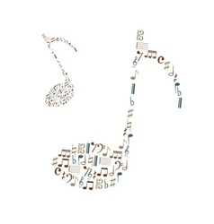 Music note icons set like big music note eps10 vector