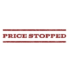Price Stopped Watermark Stamp vector image vector image
