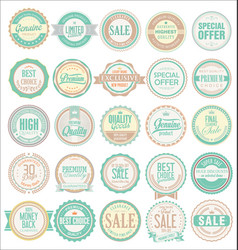 retro badges and labels collection vector image