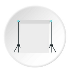 Screen icon circle vector