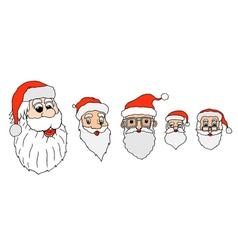 Set of santa claus vector image vector image