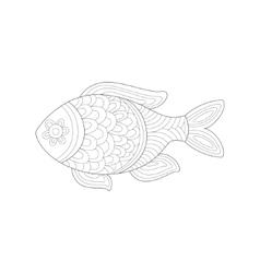Small salt water tropical fish sea underwater vector