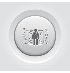 Tactics icon grey button design vector