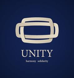 unity symbol design template vector image vector image