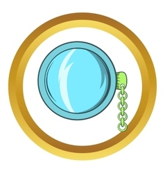 Vintage pocket watch icon cartoon style vector image vector image