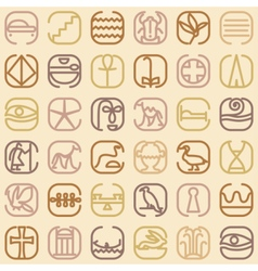 Egypt symbol icon seamless pattern vector