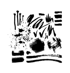 Brush stroke set vector