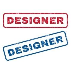 Designer rubber stamps vector