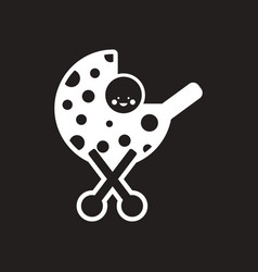 stylish black and white icon baby in stroller vector image