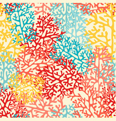 Colorful sea corals seamless pattern vector