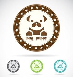 Pug puppy vector