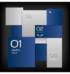 Business squares template blue dark with text vector