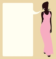 Design with fashionable young woman vector image