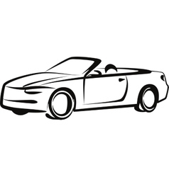 Simple with a car vector