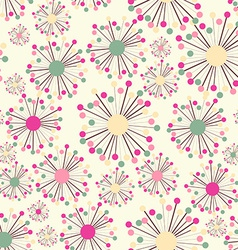 Abstract seamless pattern with flowers background vector