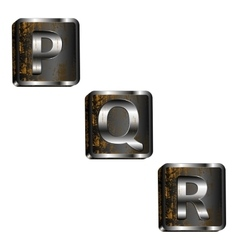 Pqr iron letters vector