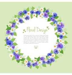 Flowers wreath card vector