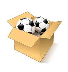 balls in box vector image