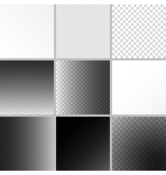 Set of editable background for transparency image vector
