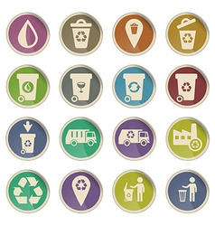 Garbage simply icons vector